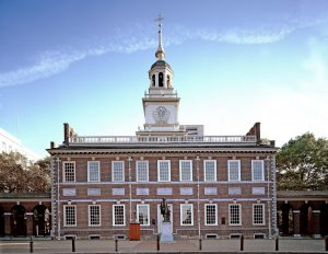 The Independence Hall you can visit after leaving New York and moving to Pennsylvania.