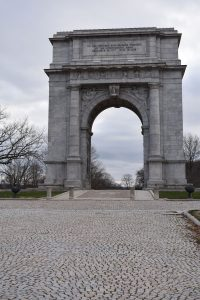 Historic area of the Valley Forge, Pennsylvania