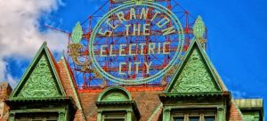 The Electric City sign you will see after moving to Scranton