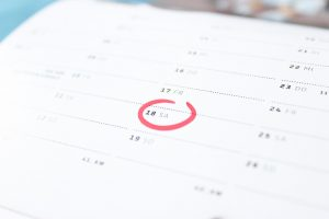 A marked date in the planner as you can use the planner to write down a plan so you can make Idaho to Pennsylvania relocation a breeze.